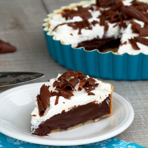 Chocolate Cream French Silk Pie