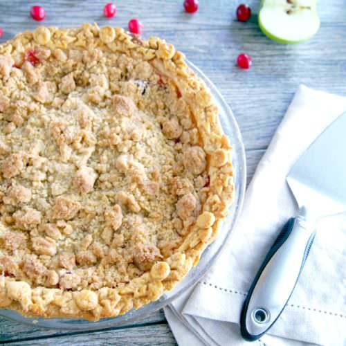 Cranberry Apple Crumb Pie