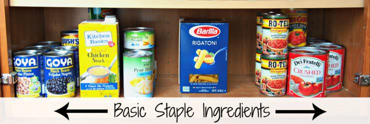 How-to-Organize-the-Pantry-in-Five-Easy-Steps is surefire way to get those cupboards clean and keep them that way!