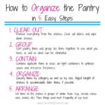 How to Organize the Pantry in 5 Easy Steps