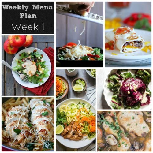 Weekly Menu Plan – Week 1
