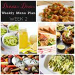Weekly Menu Plan Week 2