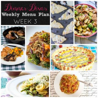 Weekly-Menu-Plan-Week-3 is all about tossing veggies into the mix for healthy, satisfying meals with an abundance of fresh flavors.