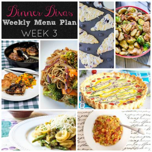 Weekly Menu Plan Week 3