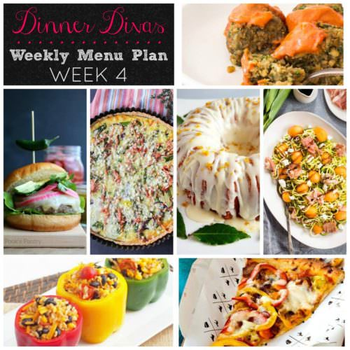 Weekly Menu Plan Week 4
