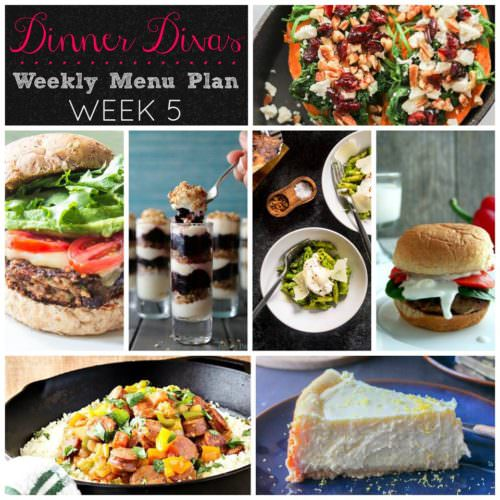 Weekly Menu Plan Week 5