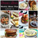 Weekly Menu Plan Week 6