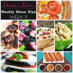 Weekly Menu Plan Week 11