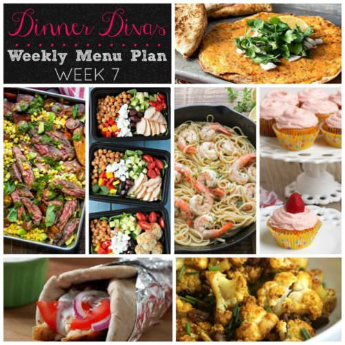 Weekly Menu Plan Week 7