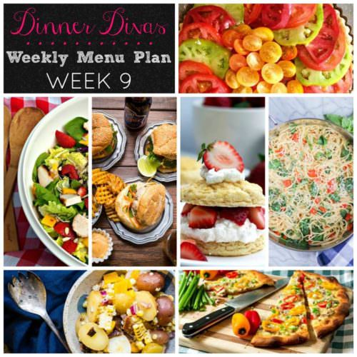 Weekly Menu Plan Week 9