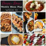 Weekly Menu Plan Week 10