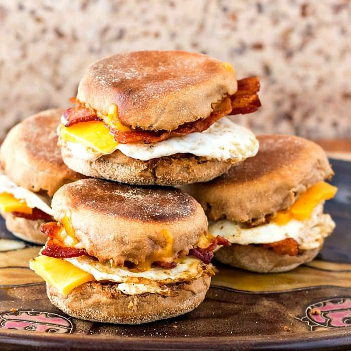 Weekly-Menu-Plan Week 14 is all about breakfast for dinner! Delicious breakfast sandwiches that and casseroles that hearty enough for dinner, with all the comfort of a hot breakfast!